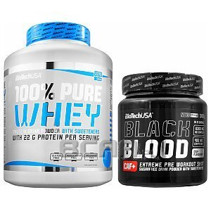 BioTech USA 100% Pure Whey + Black Blood CAF+ 2270g+330g 1/4