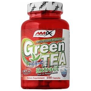 Amix Green Tea Extract with Vitamin C 100kaps. 1/1