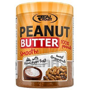 Real Pharm Peanut Butter Smooth with Himalayan Salt 1000g 1/1