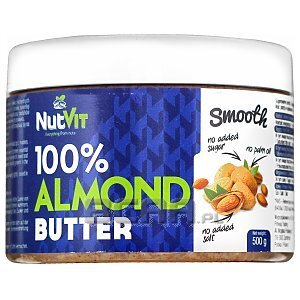 NutVit 100% Almond Butter Smooth 500g 1/1