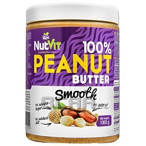 NutVit 100% Peanut Butter Smooth 1000g 1/1